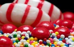 糖果混杂的人群 库存照片