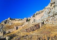 科林斯湾堡垒老希腊 库存照片
