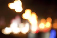 模糊的光街道 免版税库存图片