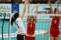 волейбол Венгрии игры Болгарии Стоковая Фотография