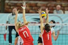 волейбол Венгрии игры Болгарии Стоковое фото RF
