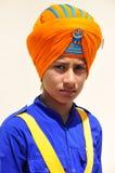 男孩印第安锡克教徒 免版税库存照片