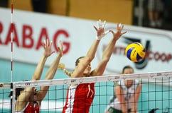волейбол Венгрии игры Болгарии Стоковое Изображение RF