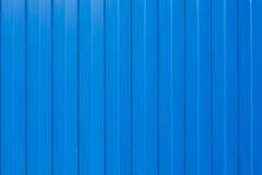 蓝色波状钢 免版税库存照片