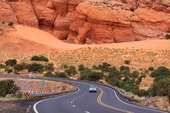 风景沙漠的驱动器 库存照片