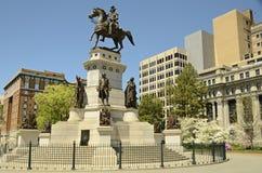 纪念碑里士满华盛顿 免版税库存照片
