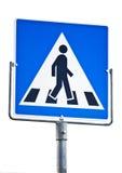 横穿步行者符号 免版税库存图片