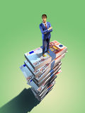 企业顶层 免版税库存图片