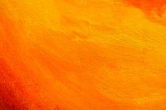 橙色被绘的纹理 免版税图库摄影