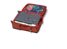 упаковка ставит чемоданы Стоковые Изображения