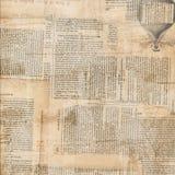 脏的古色古香的报纸纸张拼贴画 库存照片