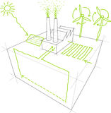 эскизы способные к возрождению энергии Стоковые Фото