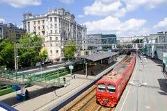 莫斯科火车站 免版税库存照片
