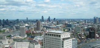 空中伦敦英国视图 免版税图库摄影