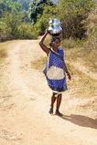 区印第安农村用品水 免版税库存图片