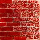 красный цвет картины предпосылки флористический Стоковая Фотография