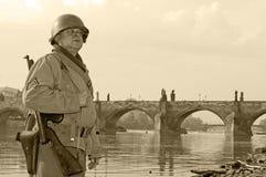 американский воин Стоковая Фотография