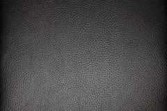 黑色皮革纹理 免版税库存图片