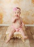 女孩俏丽的小孩 免版税图库摄影