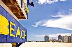 海滩佛罗里达迈阿密抢救 免版税库存图片