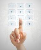 拨号虚拟 免版税图库摄影