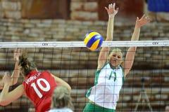 волейбол Венгрии игры Болгарии Стоковое Изображение