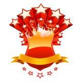 красный цвет изолированный эмблемой Стоковое Фото