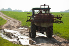 путь трактора поля Стоковое фото RF