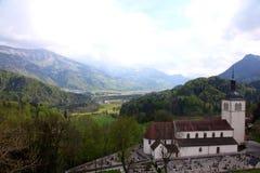 墓地在阿尔卑斯 库存照片