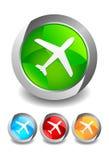 机场按钮 免版税库存图片
