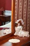 瓷玩偶维多利亚女王时代的著名人物 免版税图库摄影