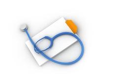 ιατρικές σημειώσεις Στοκ φωτογραφία με δικαίωμα ελεύθερης χρήσης