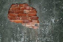 损坏的老墙壁 库存照片