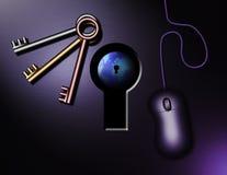 ключи интернета Стоковая Фотография RF
