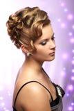 现代婚礼发型 图库摄影
