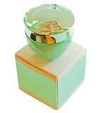 瓶配件箱化妆用品 免版税图库摄影