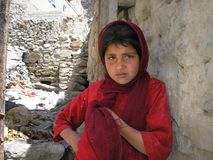 阿富汗女孩 免版税库存照片