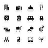 основные иконы гостиницы Стоковые Изображения RF