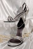 新娘凉鞋 库存图片