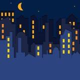 вектор иллюстрации городского пейзажа Стоковые Фотографии RF