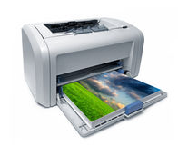 激光打印机 免版税图库摄影