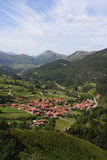 北部西班牙村庄 库存照片