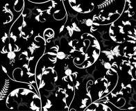 抽象花卉模式向量 免版税库存照片