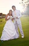 新娘新郎结婚 库存照片