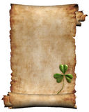 古色古香的背景查出的原稿纸张 库存照片