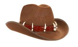 белизна шлема ковбоя изолированная Стоковые Изображения