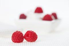 生活亚麻制仍然对莓白色 免版税库存图片