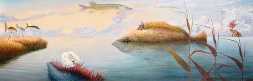 постарето мечтающ рыболов Стоковая Фотография