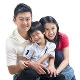 Счастливая азиатская семья Стоковые Изображения