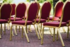 婚姻的椅子 免版税库存图片